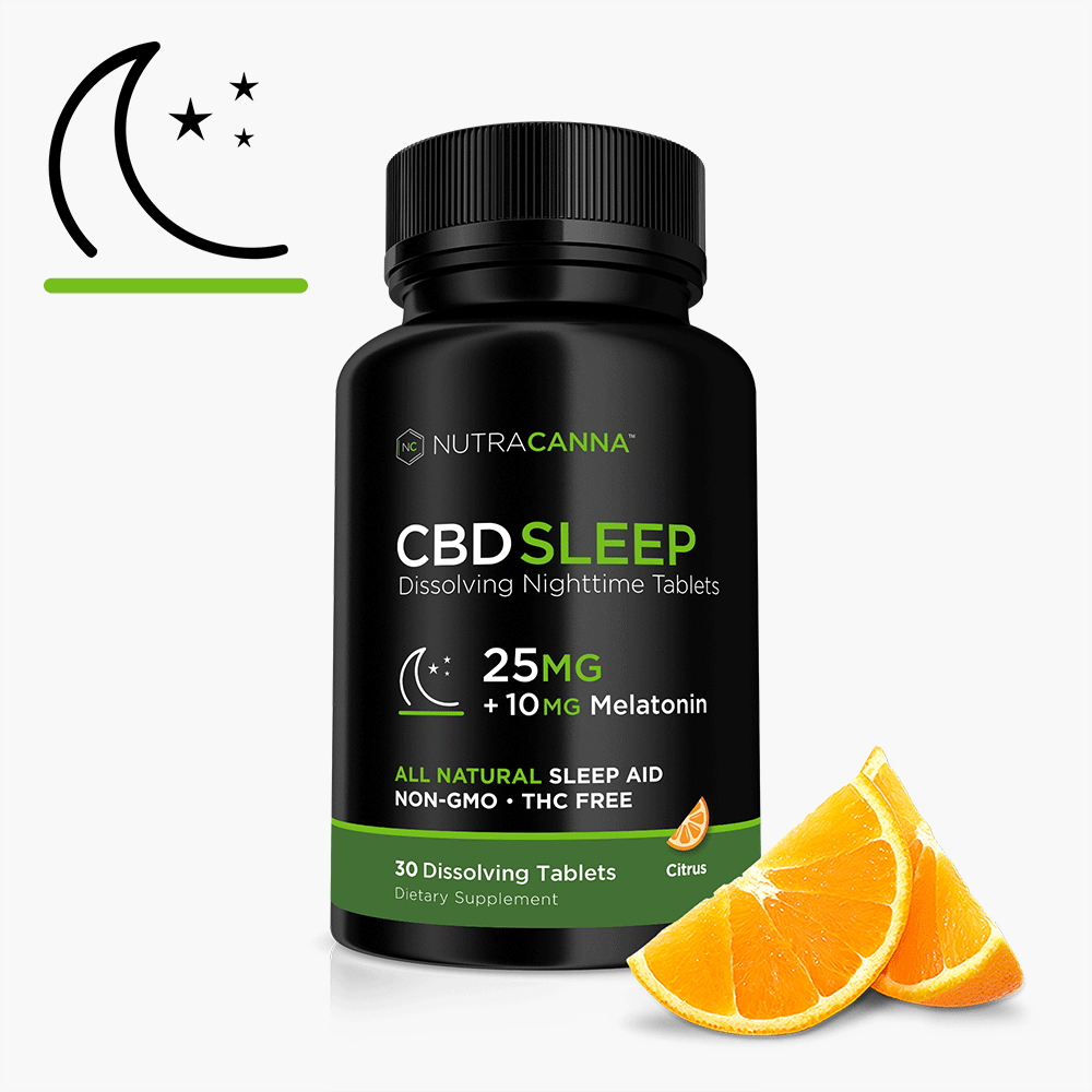 CBD Sleep Aid - Dissolving sublingual tablets 750mg best website to buy CBD oil 25mg