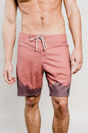 Ridged Mountains Scallop Boardshorts