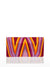 Cheska Chevron Clutch, Purple / Yellow / Orange