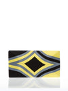Releve Fashion Beatriz Yellow Grey Black Diamond Cheska Clutch Bag Ethical Designers Sustainable Fashion Brands Artisanal Handmade Accessories Purchase with Purpose Shop for Good