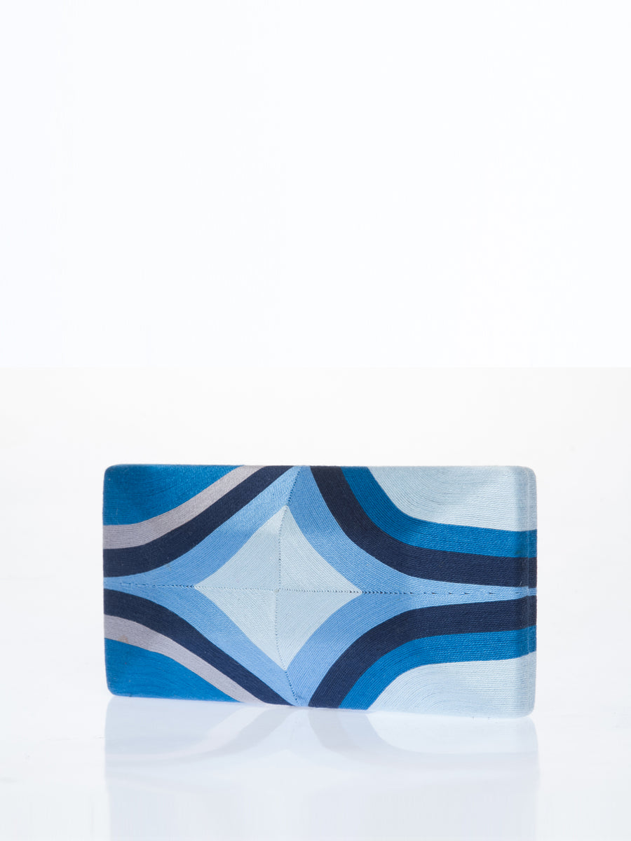 Cheska Diamond Clutch, Blue / Grey / Navy