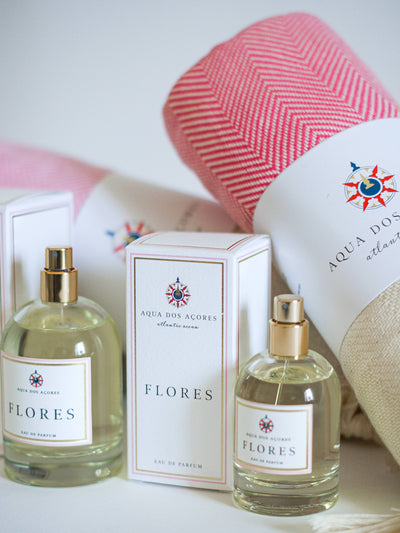 Releve Fashion Aqua dos Acores Flores Eau de Parfum Gift with Purchase Turkish Towel Ethical Designer Fragrance Sustainable Socially Conscious Lifestyle Brand Purchase with Purpose Shop for Good Social Impact