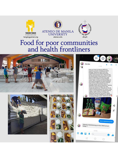 Releve Fashion Coronavirus Covid19 Relief Efforts Donate Now Ateneo Disaster Response and Management (DReaM) Team High Philippines for Health Workers Frontliners High Risk Communities