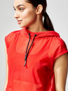 Releve Fashion Michi Drive Hoodie Fire Red Sustainable Fashion Athleisure Activewear Brand Positive Luxury Brands to Trust Purchase with Purpose Shop for Good