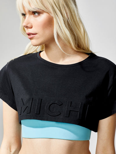 Releve Fashion Flash Crop Top Black Sustainable Fashion Athleisure Activewear Brand Positive Luxury Brands to Trust Purchase with Purpose Shop for Good