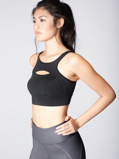 Releve Fashion Michi Black Fusion Bra Sustainable Fashion Athleisure Activewear Brand Positive Luxury Brands to Trust Purchase with Purpose Shop for Good