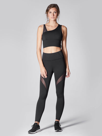 Releve Fashion Michi Black Glow High Waisted Legging Sustainable Fashion Athleisure Activewear Brand Positive Luxury Brands to Trust Purchase with Purpose Shop for Good