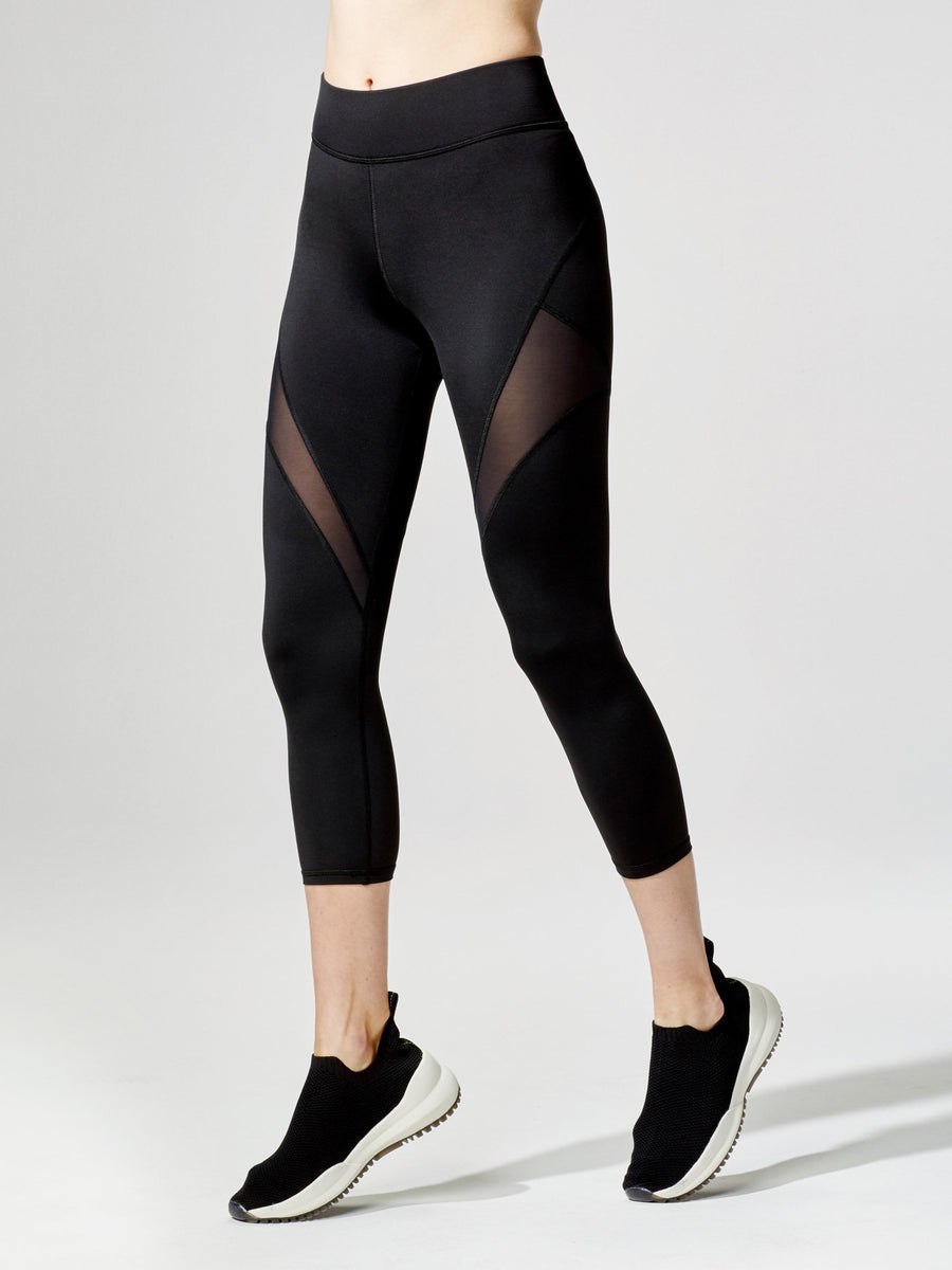 Releve Fashion Inversion Crop Legging Black Sustainable Fashion Athleisure Activewear Brand Positive Luxury Brands to Trust Purchase with Purpose Shop for Good