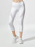 Inversion Crop Legging, White