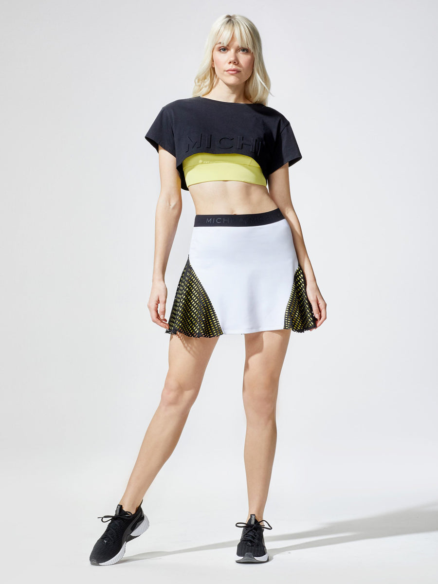 Match Skirt, White / Yellow / Black