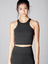 Releve Fashion Michi Black Vibe Crop Top Sustainable Fashion Athleisure Activewear Brand Positive Luxury Brands to Trust Purchase with Purpose Shop for Good
