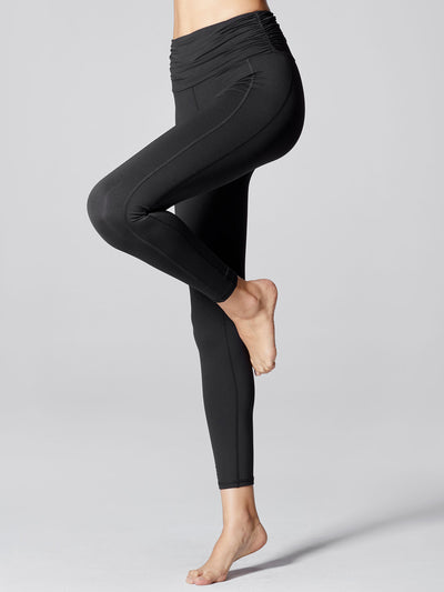 Releve Fashion Michi Black Wave High Waisted Legging Sustainable Fashion Athleisure Activewear Brand Positive Luxury Brands to Trust Purchase with Purpose Shop for Good
