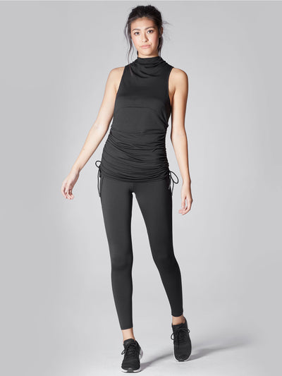 Releve Fashion Michi Black Wave Top Sustainable Fashion Athleisure Activewear Brand Positive Luxury Brands to Trust Purchase with Purpose Shop for Good