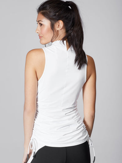 Releve Fashion Michi White Wave Top Sustainable Fashion Athleisure Activewear Brand Positive Luxury Brands to Trust Purchase with Purpose Shop for Good