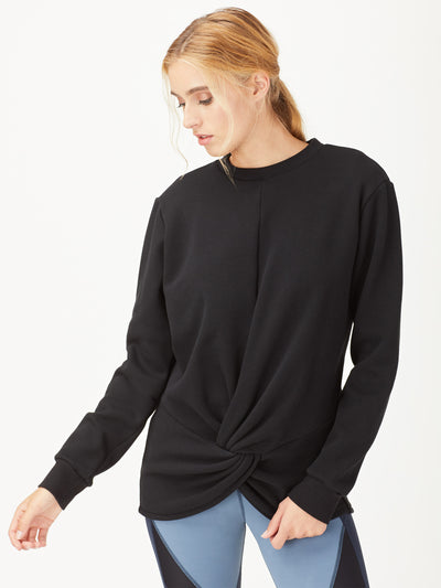 Releve Fashion Michi Black Farfalla Sweatshirt Activewear Athleisure Wear Ethical Designers Sustainable Fashion Brands Purchase with Purpose Shop for Good