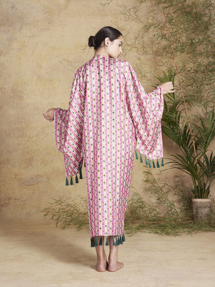 Releve Fashion Muzungu Sisters Blossom Kimono Bamboo Fables Ethical Designers Sustainable Fashion Brand Handmade Artisanal Positive Fashion Conscious Luxury Purchase with Purpose Shop for Good
