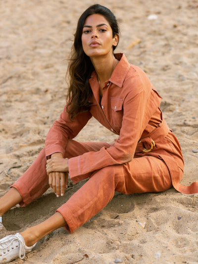 Releve Fashion Oramai London Lamu Jumpsuit Ethical Designers Sustainable Fashion Brands Eco-Age Brandmark Purchase with Purpose Shop for Good