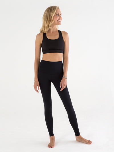 Releve Fashion Pama London Black Stars and Moon Legging Ethical Designers Sustainable Fashion Brand Activewear Athleticwear Athleisure Yoga Positive Fashion Purchase with Purpose Shop for Good