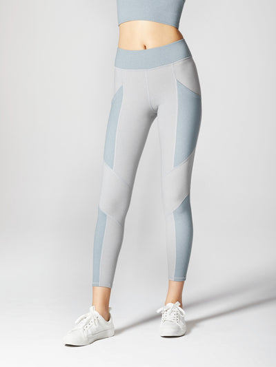 Releve Fashion Michi Athleisure Wear Ethical Designers Sustainable Fashion Brands Purchase with Purpose Shop for Good Aura Pocket Legging Angelite Blue