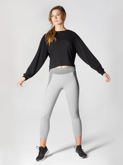 Releve Fashion Michi Athleisure Wear Ethical Designers Sustainable Fashion Brands Purchase with Purpose Shop for Good Breeze Sweatshirt Black