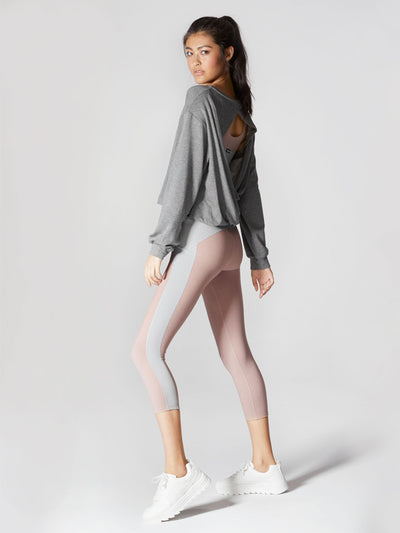 Releve Fashion Michi Athleisure Wear Ethical Designers Sustainable Fashion Brands Purchase with Purpose Shop for Good Breeze Sweatshirt Grey