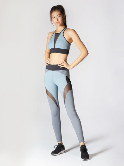 Releve Fashion Michi Athleisure Wear Ethical Designers Sustainable Fashion Brands Purchase with Purpose Shop for Good Glacier Bra Angelite Blue