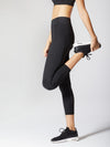 Releve Fashion Michi Athleisure Wear Ethical Designers Sustainable Fashion Brands Purchase with Purpose Shop for Good Lotus Crop Legging Black