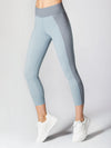 Releve Fashion Michi Athleisure Wear Ethical Designers Sustainable Fashion Brands Purchase with Purpose Shop for Good Lotus Crop Legging Angelite Blue
