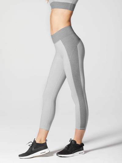 Releve Fashion Michi Athleisure Wear Ethical Designers Sustainable Fashion Brands Purchase with Purpose Shop for Good Lotus Crop Legging Moonstone Grey
