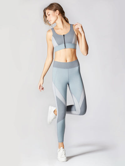 Releve Fashion Michi Athleisure Wear Ethical Designers Sustainable Fashion Brands Purchase with Purpose Shop for Good Mist Bra Angelite Blue
