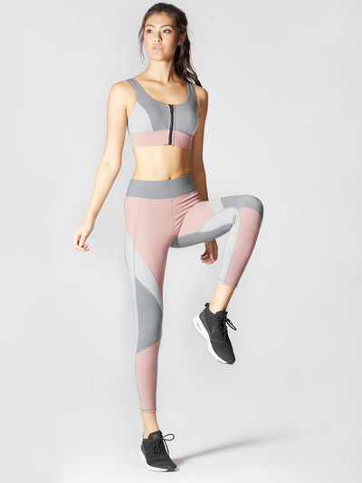Releve Fashion Michi Athleisure Wear Ethical Designers Sustainable Fashion Brands Purchase with Purpose Shop for Good Mist Bra Rose Quartz