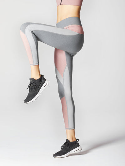 Releve Fashion Michi Athleisure Wear Ethical Designers Sustainable Fashion Brands Purchase with Purpose Shop for Good Mist Legging Rose Quartz