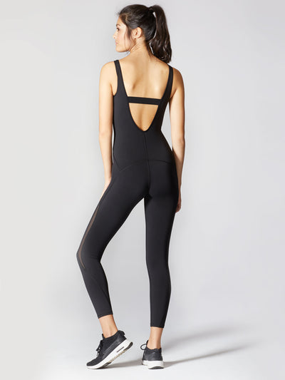 Releve Fashion Michi Athleisure Wear Ethical Designers Sustainable Fashion Brands Purchase with Purpose Shop for Good Serpentine Jumpsuit Black