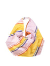 Releve Fashion Abury Pink Yellow Striped Cotton Hobo Bag Sustainable Ethical Fashion Brand Certified B Corp Positive Luxury Brands to Trust Butterfly Mark Positive Fashion Purchase with Purpose Shop for Good