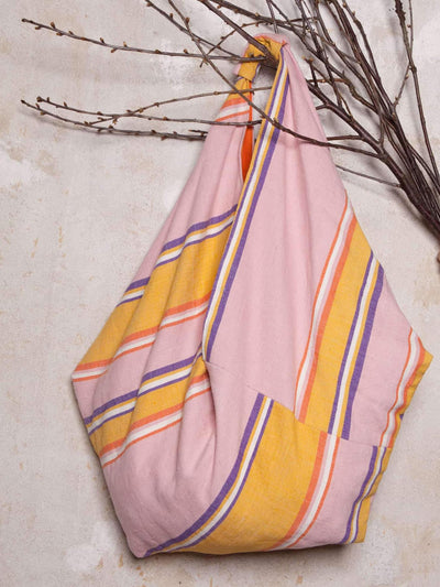 Releve Fashion Abury Pink and Yellow XL Hobo Shopper Bag Sustainable Ethical Fashion Brand Certified B Corp Positive Luxury Brands to Trust Butterfly Mark Positive Fashion Purchase with Purpose Shop for Good