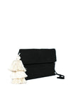 Releve Fashion Abury Black White Cotton Clutch Tassel Sustainable Ethical Fashion Brand Certified B Corp Positive Luxury Brands to Trust Butterfly Mark Positive Fashion Purchase with Purpose Shop for Good