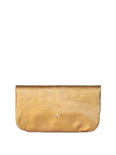 Releve Fashion Abury Shop for Good Buy Sustainable Fashion Ethical Fashion Brand Positive Fashion Positive Luxury Brands to Trust Butterfly Mark Certified B Corp Bronze Beige Floral Leather Clutch Bag