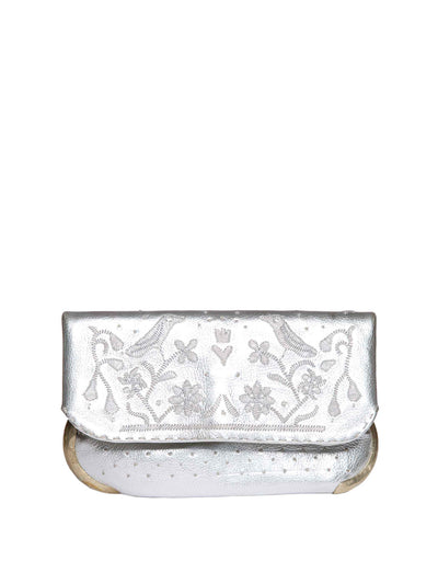 Releve Fashion Abury Lovebirds Silver Clutch Sustainable Ethical Fashion Brand Certified B Corp Positive Luxury Brands to Trust Butterfly Mark Positive Fashion Purchase with Purpose Shop for Good