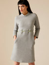 Releve Fashion Appareal Grey Hexagon Quilted Louise Dress Sustainable Fashion Conscious Clothing Ethical Designer Brand Technical Design Innovative Materials Purchase with Purpose Shop for Good