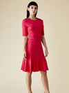Releve Fashion Appareal Fuchsia Olesya Lightweight Jersey Dress Sustainable Fashion Conscious Clothing Ethical Designer Brand Technical Design Innovative Materials Purchase with Purpose Shop for Good