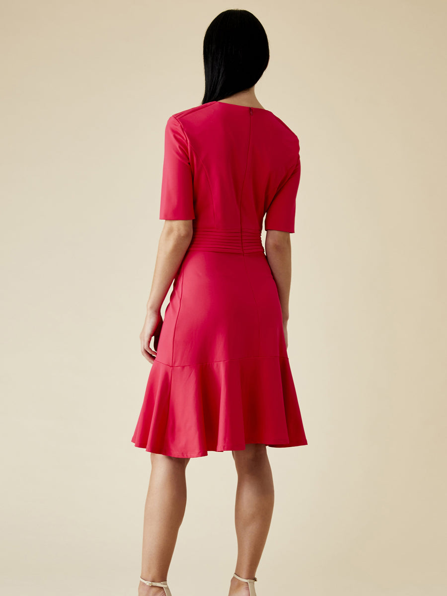 Olesya Lightweight Jersey Dress, Fuchsia