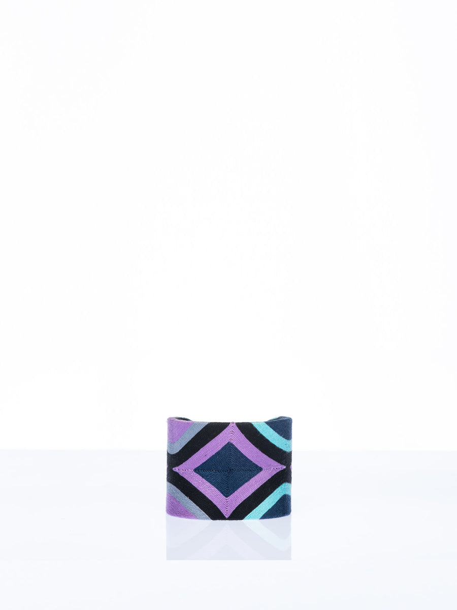 Diamond Cuff, Purple / Black / Navy
