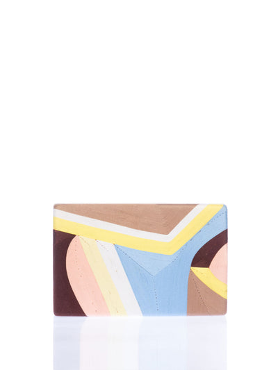 Releve Fashion Beatriz Yellow Blue Beige Elina Clutch Bag Ethical Designers Sustainable Fashion Brands Artisanal Handmade Accessories Purchase with Purpose Shop for Good