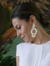 Releve Fashion Clare Hynes White Angie Earrings Ethical Designers Sustainable Fashion Brands Purchase with Purpose Shop for Good