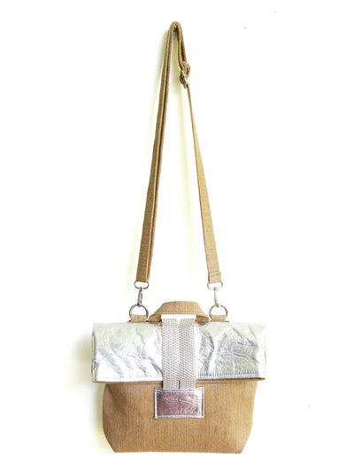 Releve Fashion Clare Hynes Beige and Silver Anya Bag Ethical Designers Sustainable Fashion Brands Purchase with Purpose Shop for Good