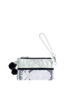 Releve Fashion Clare Hynes Silver Black Pinya Pouch Clutch Ethical Designers Sustainable Fashion Brands Purchase with Purpose Shop for Good