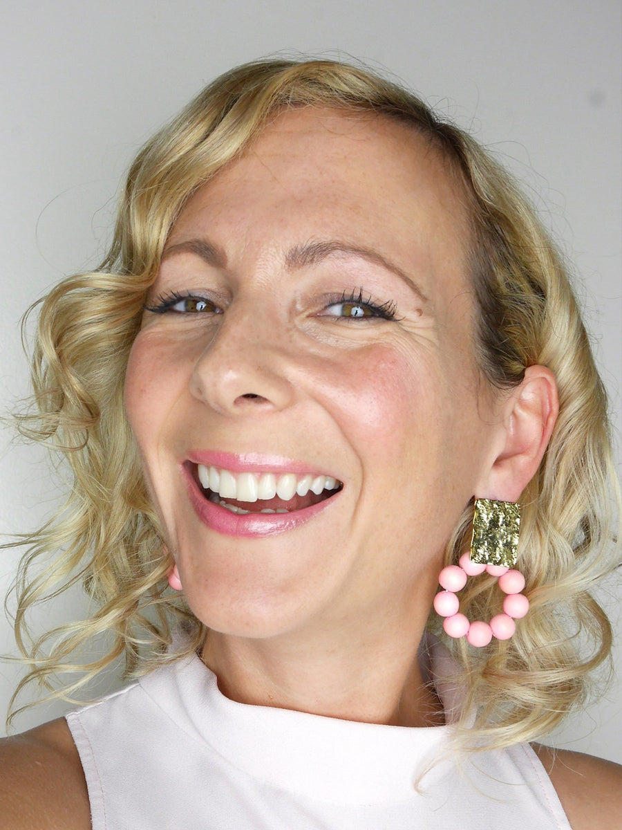 Releve Fashion Clare Hynes Yellow Jaynie Earrings Ethical Designers Sustainable Fashion Brands Purchase with Purpose Shop for Good