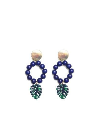 Releve Fashion Clare Hynes Blue Green Lola Earrings Ethical Designers Sustainable Fashion Brands Purchase with Purpose Shop for Good
