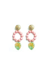 Releve Fashion Clare Hynes Pink Light Green Lola Earrings Ethical Designers Sustainable Fashion Brands Purchase with Purpose Shop for Good