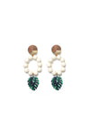 Releve Fashion Clare Hynes White Green Lola Earrings Ethical Designers Sustainable Fashion Brands Purchase with Purpose Shop for Good